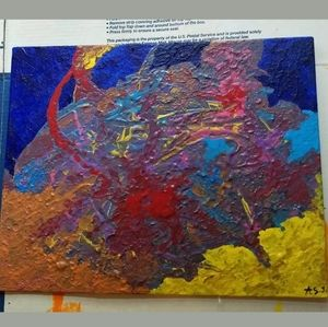 Abstract Painting 'In Cosmos' Acrylic OOAK Colors